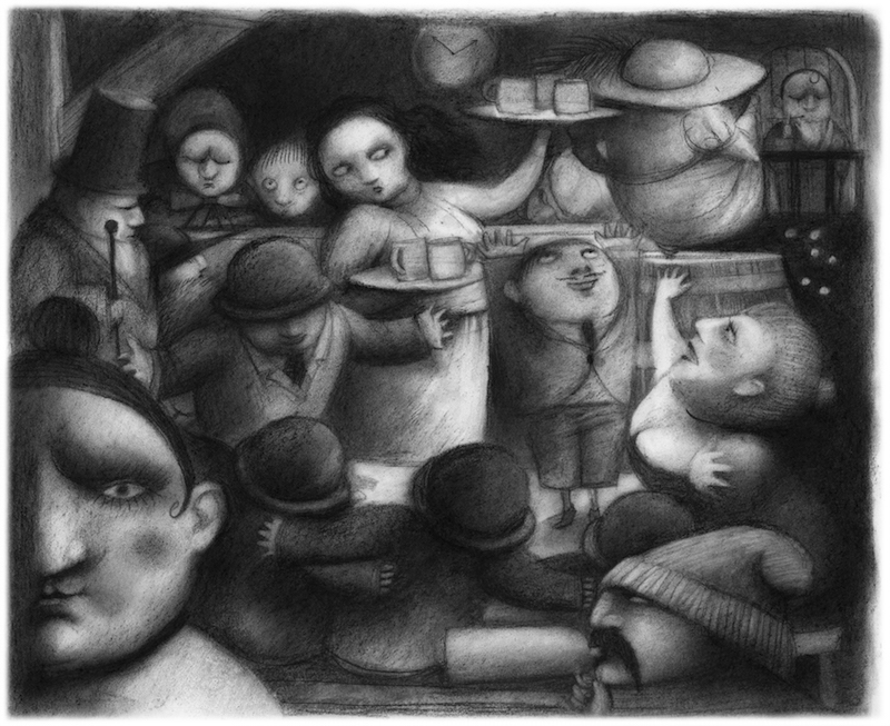 Ilustración Snowhite Ana Juan