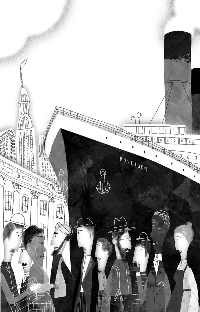 Jacobo Muñiz ilustracion El hombre que sabía volar